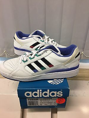Vintage Adidas Sequence Competition Made Korea 1991 US 9 Rare Tennis Shoes.