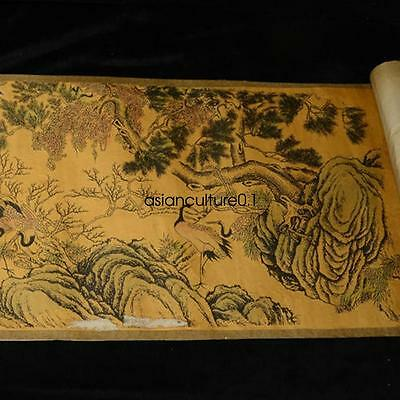 Collection of Chinese scroll painting on silk LM828