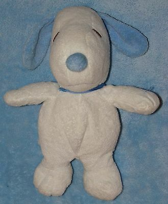 Ty Plush Snoopy Blue & White Pluffies Musical Peanuts Dog Soft Stuffed Toy
