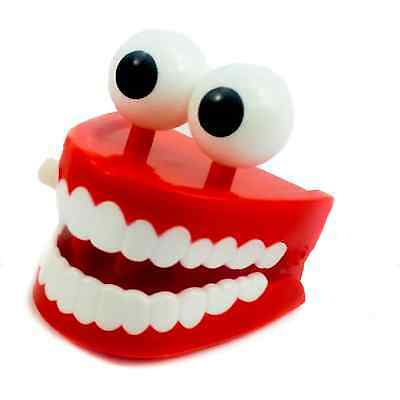 Eye Ball Chattering Teeth Wind Up Clockwork Toy Xmas Stocking Party Bag Filler
