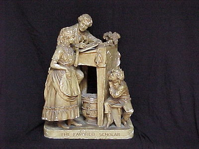 John Rogers Group of Statuary     'The Favored Scholar'