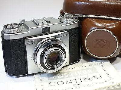 Zeiss Ikon Contina Ia 526/24, 35mm Camera & 45mm f2.8 lens with Zeiss Case