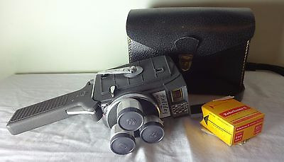 Vintage Movie Camera Mansfield Holiday Meter Matic Turret, film & case EXCELLENT