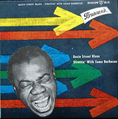 Louis Armstrong:Basin Street Blues       Deutsche Brunswick EP