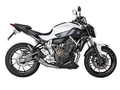 Yamaha all MT-07 Complete Exhaust 2-1 System Stainless Steel New
