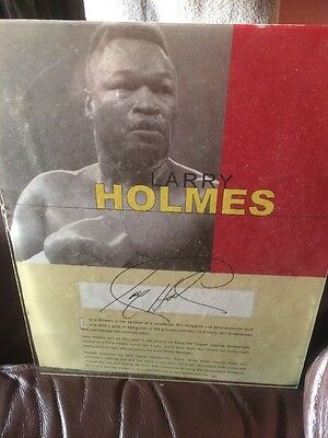 Xmas Gift Great Larry Holmes Signed Photograph