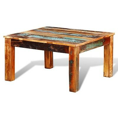 Reclaimed Wood Coffee Table Solid Furniture Style Handmade Living Room Upcycled