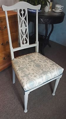 Beautiful Hand Painted Edwardian Parlour Bedroom Hall Chair 4 Available