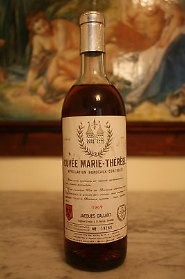 Bordeaux Cuvee Marie Therese , Jaques Gallant N.19265 Del 1969  , Old Bottle !!!