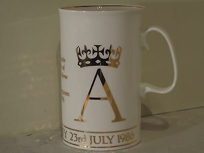 A Dunoon Ceramic Mug to Commemorate the Wedding of Andrew and Sarah 23/7/86