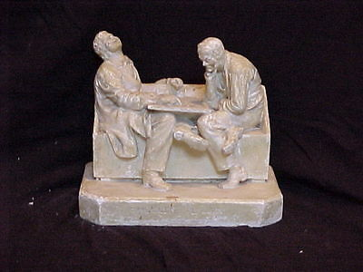 John Rogers Group of Statuary   'CHECKER PLAYERS'   VERY VERY RARE'