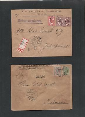 Finland 1887/1918 Covers With Wax Seals 4 Items