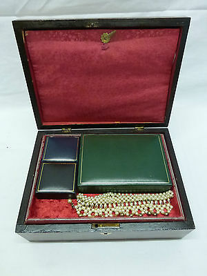 Mahogany Victorian   Jewelry Box  With New Interior ***no Reserve***