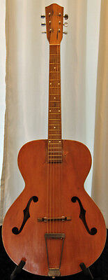 Vintage Generic No-Name Archtop Acoustic Guitar w Hard Case