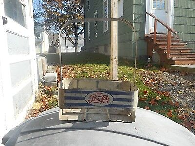 Vintage Metal Carring Case Pepsi Red White & Blue