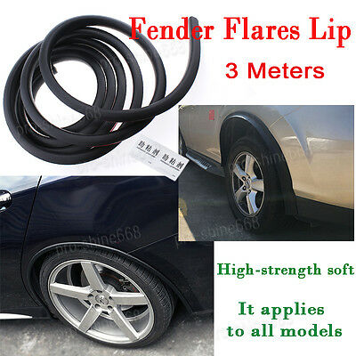 "118"" Black  Fender Flares Extension Vehicle Wheel Eyebrow Lip Conservation Strip"