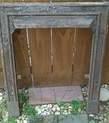 Vtg Architectural Salvage Fireplace Mantel Insert Cast Iron