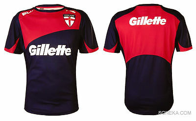 BLK England Rugby League Senior Training T-Shirt Navy/Red - Highly Collectable