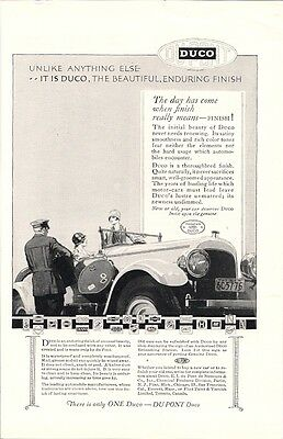 Duco Beautiful Finish from Dupont Automobile Vintage Ad 1920s