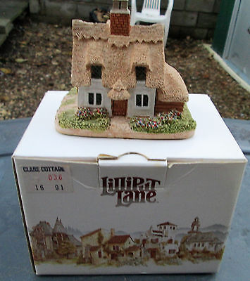 BOXED CLARE COTTAGE 1980s LILLIPUT LANE MODEL - WITH DEEDS