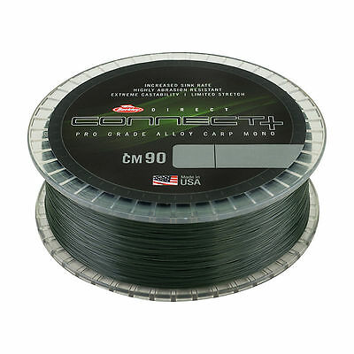 Berkley - CONNECT CM90 CARP MONOFILAMENT LINE - WEED GREEN - 1200m SPOOL