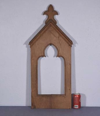 French Antique Gothic Revival Panel in Oak Wood
