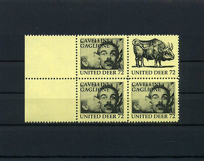 F9X ARTISTAMPS CAVELLINI PICASSO GAGLIONE United Deer Poster Stamp