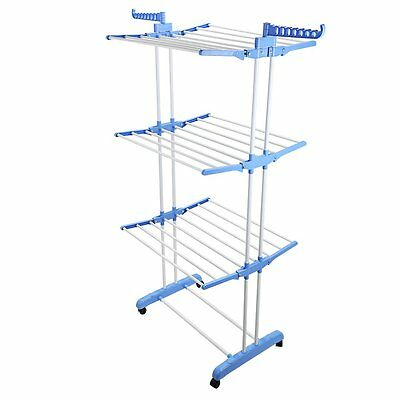 3 Tier Indoor Outdoor Laundry Dryer Rack Extra Large Clothes Foldable Airer