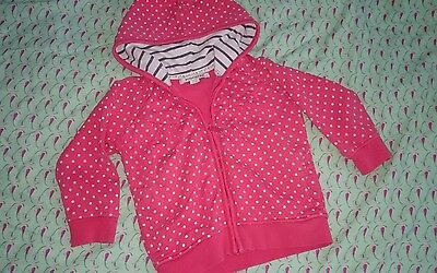 Reserved zip hoodie 1,5-2 y red with white dots