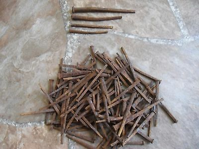 2 Lbs 5 Oz 1800's Square Headed Nails from Mill Site off Sanborn Rd Saratoga CA
