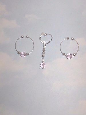 The Special Looks  Non Piercing Nipple Rings  & Body Hood Clip  Adornment  Set
