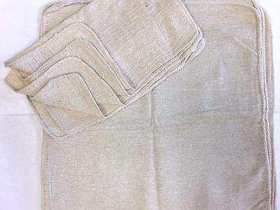 """1000 Pieces Industrial Shop Rags / Cleaning Towels Natural 13""""X14"""""""