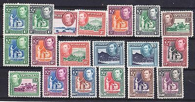 St Vincent 1949-52 King George VI Complete Very Lightly Hinged Mint
