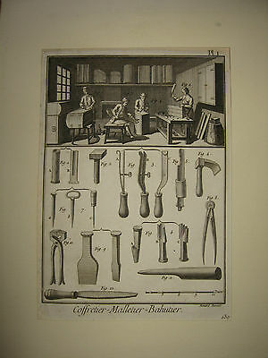Antique Prints From Encyclopaedia Of Diderot & D'alembert-Antique 1751-1777.