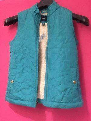 Gap Kids Girls 12-Years Turquoise  Girls Cold Control Lite Quilted Vest