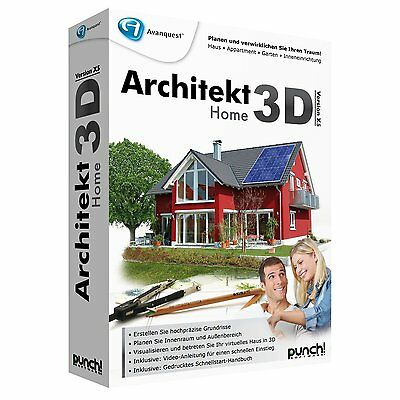 Punch! Architekt 3D X5 Home deutsch CD/DVD Box Win Version 15