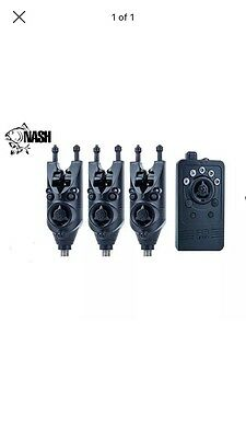 3 X Nash Siren R3 Bite Alarms And Receiver Red Green And Blue RRP £600