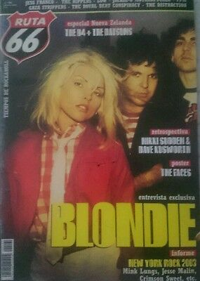 RUTA 66 SPANISH mag rare magazine 2003 BLONDIE The Rippers poster of THE FACES