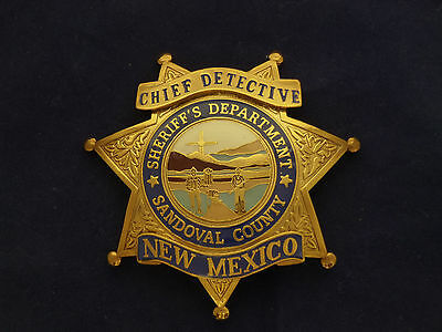 Obsolete Sandoval County Chief Detective Police Badge