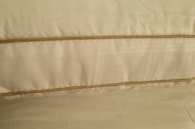 Pair Of Pure Egyptian Cotton Silk Filled Pillows 400 T/c, Feels Like Down Pillow