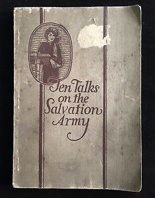 Rare Vintage 1926 Ten Talks On The Salvation Army Booklet