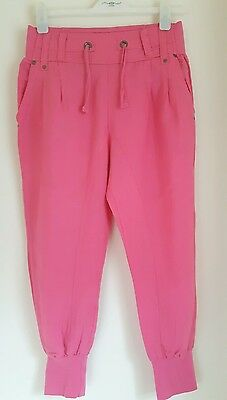 Nwt New Look Generation Pink Linen 3/4 Length Pants Age 13.