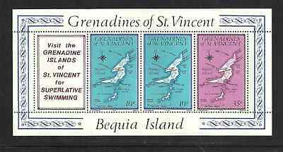 Grenadines Of St Vincent Postal Issue 1976 - Bequia Island - Mint Booklet Pane