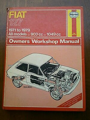 Fiat 127 Haynes workshop manual 1971-1979 inc sport