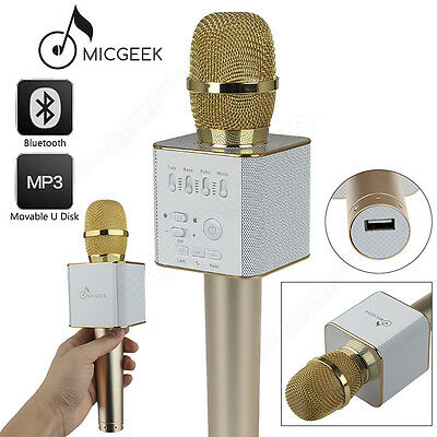 Original MicGeek Q9 Microphone Bluetooth Karaoke USB Play For Android Smartphone