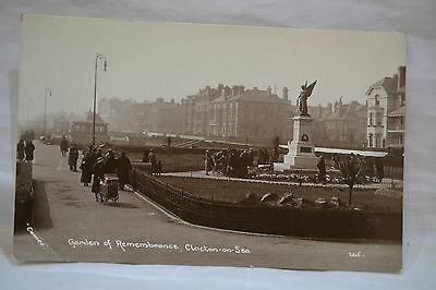 Garden Of Remembrance Clacton on Sea Old Postcard Unposted Real Photograph