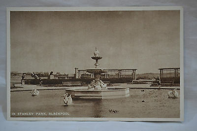 In Stanley Park Blackpool Postcard Unposted