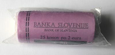 Slovenia 2007 2 Euro Coin Roll of 25 UNC in original Bank Mint condition