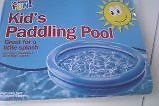 inflatable MINI PADDLING POOL - Ideal for a Little Splash - fun for dogs too! .