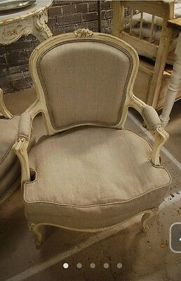 Beautiful Pair Of Newly Upholstered French Bedroom Chairs Antique